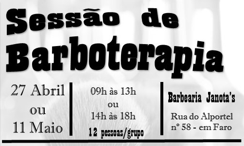 SESSÃO DE BARBOTERAPIA